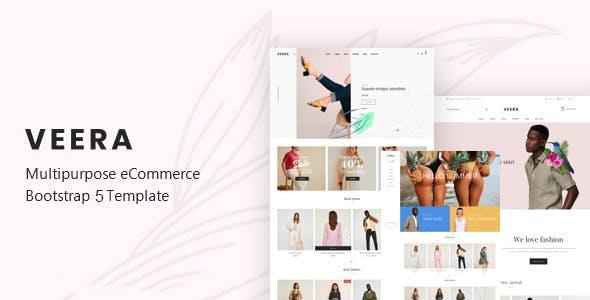Veera - Fashion Minimal Website Template using Bootstrap 5