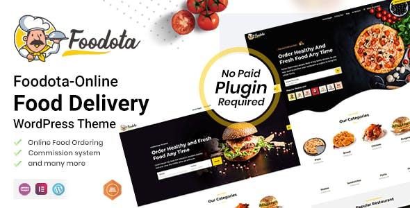 Foodota - Online Food Delivery WordPress Theme