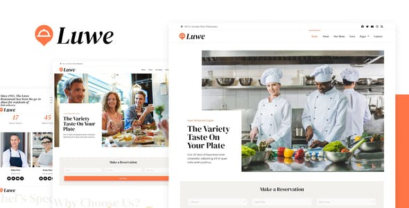 Luwe - Restaurant Elementor Template Kit