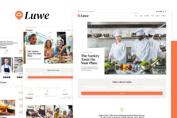 Luwe - Restaurant Elementor Template Kit - Food & Drink Elementor