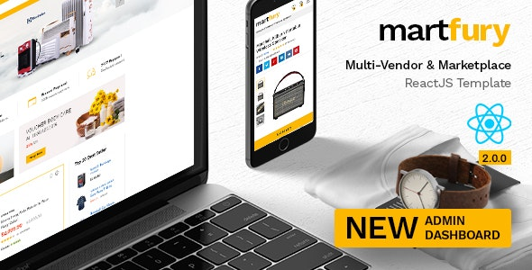 Martfury - Multipurpose Marketplace React Ecommerce Template - Retail Site Templates