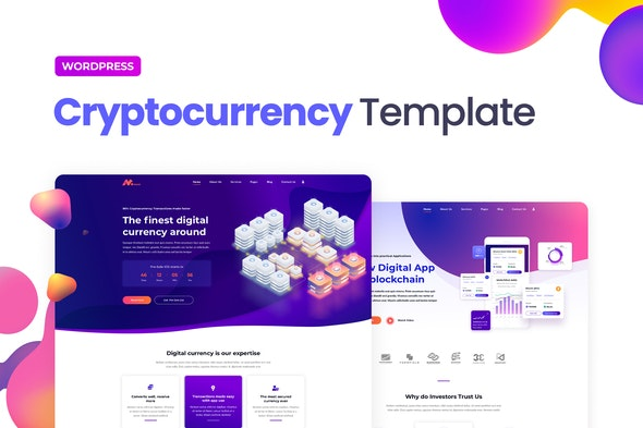 Moneer – Cryptocurrency Elementor Template Kit - Technology & Apps Elementor