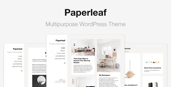 Paperleaf - Multipurpose Minimal WordPress Theme - Blog / Magazine WordPress