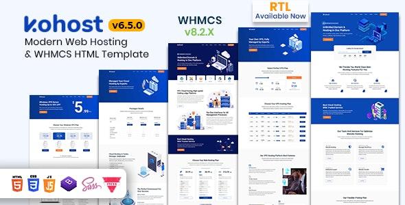 Kohost – Modern Web Hosting & WHMCS Template - Hosting Technology