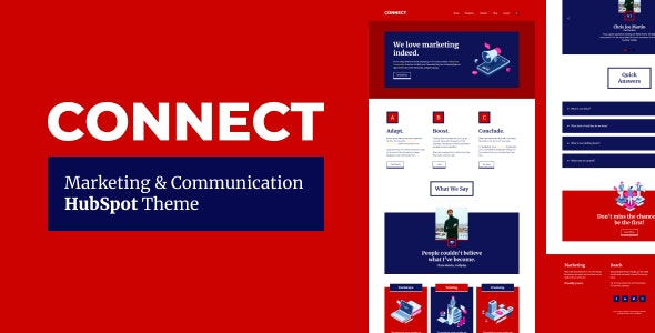 Connect - Marketing & Communication HubSpot Theme - HubSpot CMS Hub CMS Themes