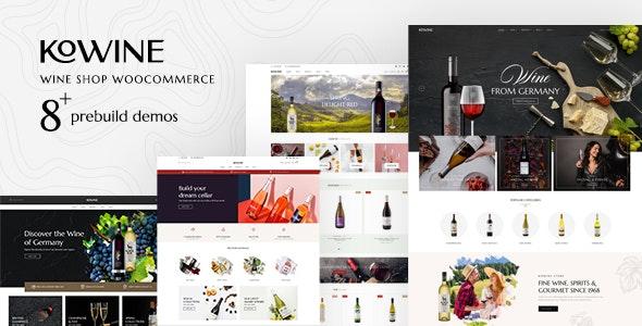 Kowine – Wine Store WordPress Theme - WooCommerce eCommerce
