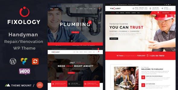 Fixology | Handyman Multi-Service WordPress Theme