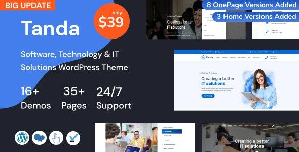 Tanda v1.4 – Technology and IT Solutions WordPress Theme