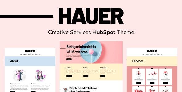 Hauer - Creative Services HubSpot Theme - Creative HubSpot CMS Hub