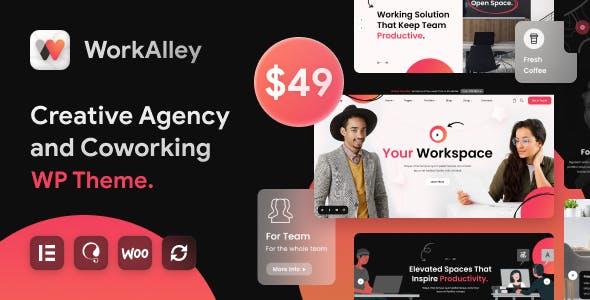WorkAlley - Creative Agency & Coworking WordPress Theme