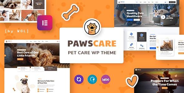 PawsCare - Pet Care & Veterinary WordPress Theme