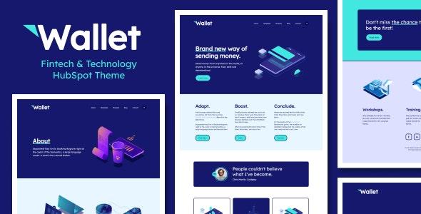 Wallet - Fintech & Technology HubSpot Theme - Technology HubSpot CMS Hub