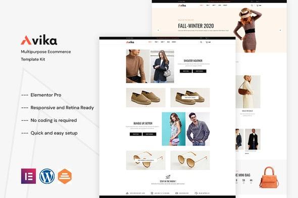 Avika - Multipurpose eCommerce Elementor Pro Template Kit - Fashion & Beauty Elementor