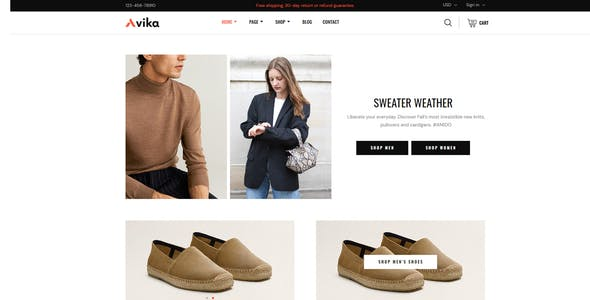 Avika - Multipurpose eCommerce Elementor Pro Template Kit