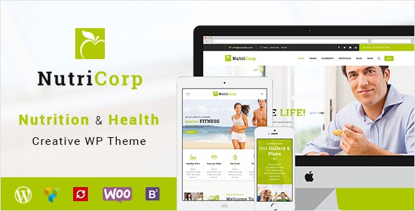 Nutricorp   Nutrition & Health Creative WordPress Theme - Health & Beauty Retail