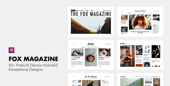 The Fox - Minimal WordPress Blog Magazine Theme