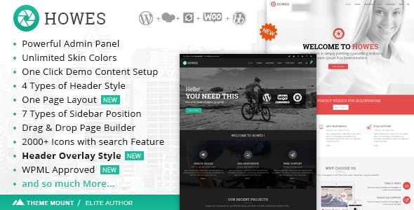Howes | Responsive Multi-Purpose WordPress Theme