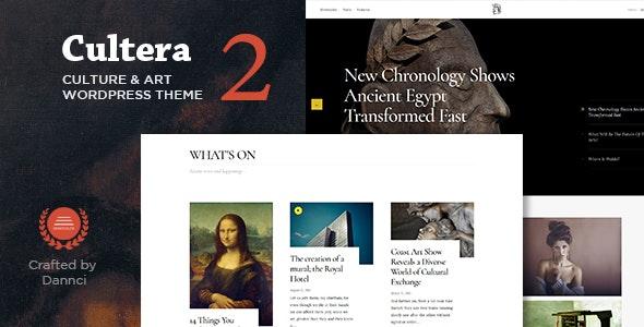 Cultera - Art & Culture WordPress Theme - Entertainment WordPress