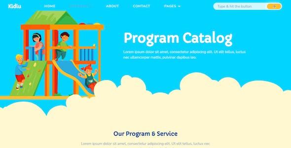 Kidiu Kindergarten - Child Care Elementor Template Kit