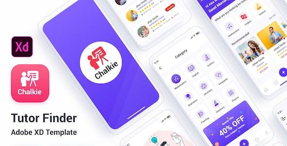 Chalkie - Tutor Finder Adobe XD Template
