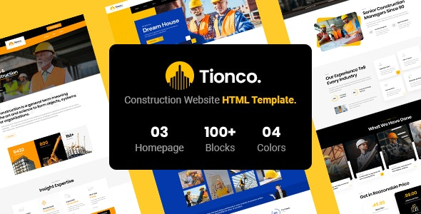 Tionco - Construction HTML5 Template - Business Corporate