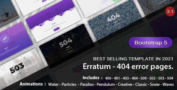 Erratum - 404 Error Pages