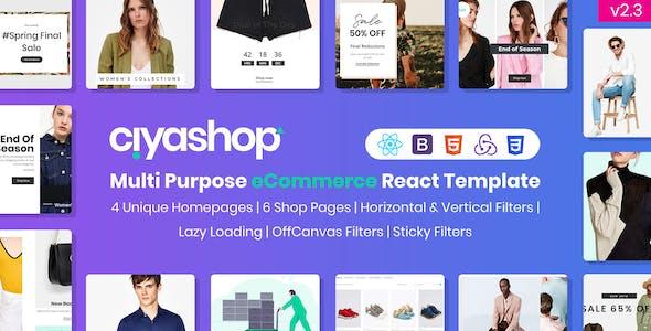 CiyaShop - Multi-Purpose eCommerce React Template