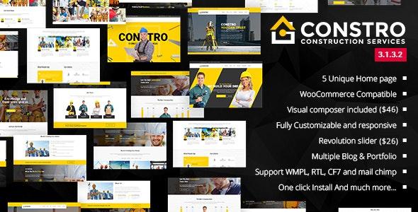 Constro - Construction Business WordPress Theme - Business Corporate