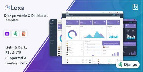 Lexa - Django Admin & Dashboard Template