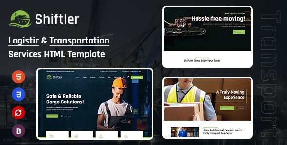 Shiftler - Transportation & Logistics HTML Template - Business Corporate