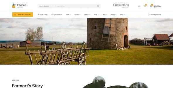 Farmart - Organic & Grocery Marketplace eCommerce PSD Template