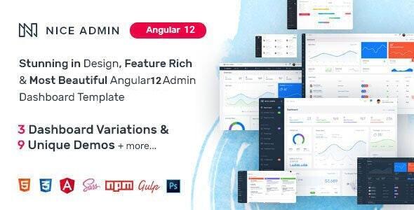 Nice Admin Angular 12 Template - Admin Templates Site Templates