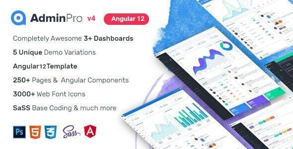 AdminPro Angular 12 Dashboard Template - Admin Templates Site Templates