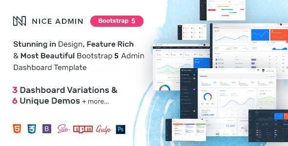 Nice Admin - Bootstrap 5 Dashboard Template