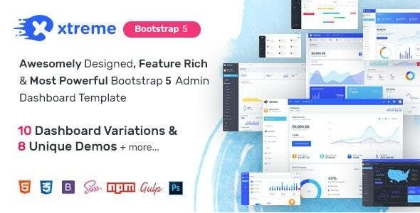 Xtreme Admin - Powerful Bootstrap 5 Dashboard Template