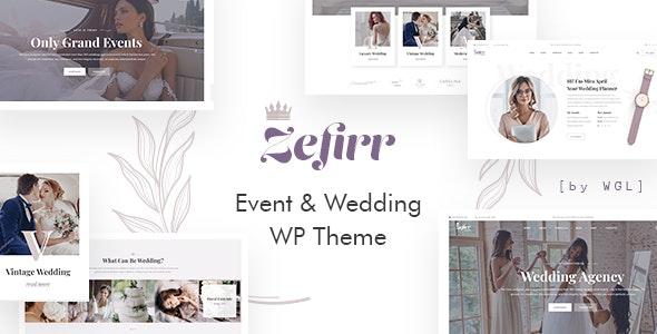 Zefirr - Event & Wedding Agency WP Theme - Wedding WordPress