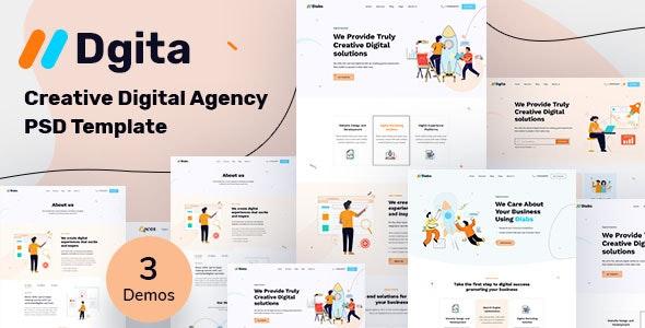Dgita - Creative Dgital Agency PSD Template - Creative Photoshop