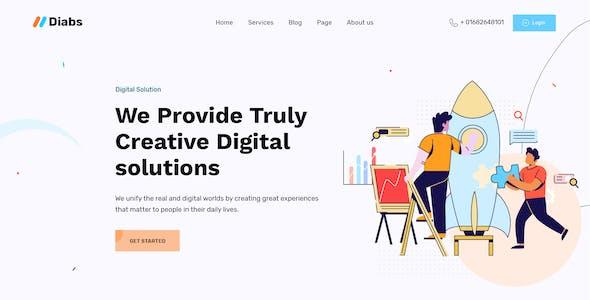 Dgita - Creative Dgital Agency PSD Template