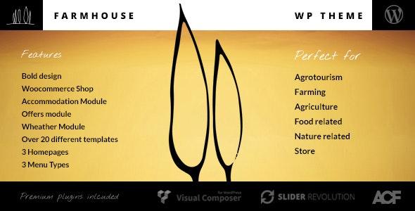 Farmhouse - Agrotourism, Farming and Agriculture theme - Retail WordPress