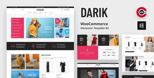 Darik - Fashion WooCommerce Elementor Template Kit