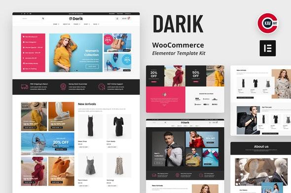 Darik - Fashion WooCommerce Elementor Template Kit - Shopping & eCommerce Elementor