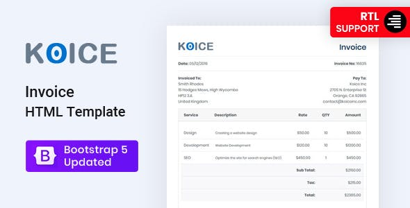 Invoice HTML Template