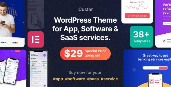 Custar - Software & App WordPress Theme