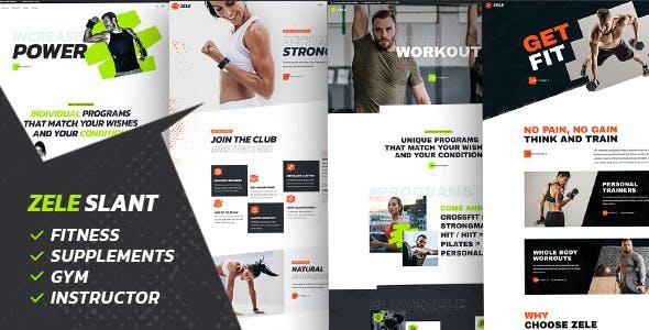 Zele - Fitness Gym & Sports WordPress Theme