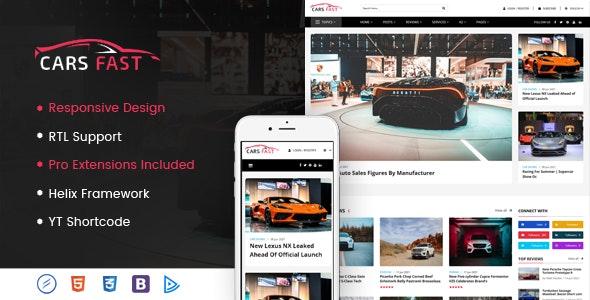 CarsFast - Responsive Cars Joomla Template - Blog / Magazine Joomla
