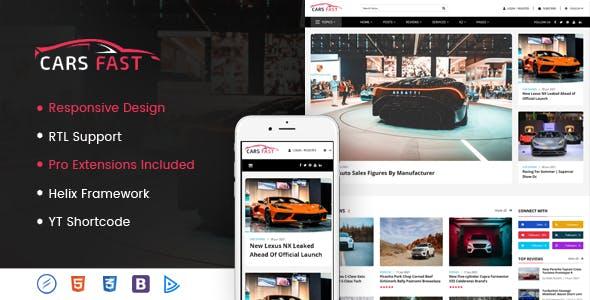 CarsFast - Responsive Cars Joomla Template