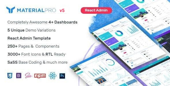 MaterialPro React Admin Template - Admin Templates Site Templates