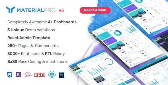 MaterialPro React Admin Template