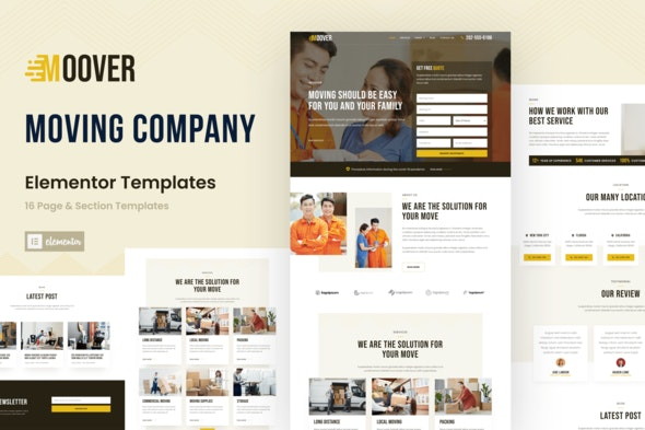Moover - Moving Company Website Elementor Template Kit - Business & Services Elementor
