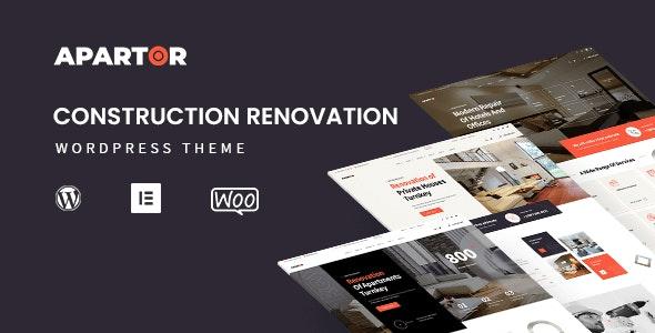 Apartor - Construction Renovation WordPress Theme - Business Corporate